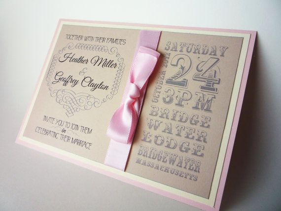 Rustic - Custom Wedding Invitations. $6.00, via Etsy.---but this would be a cute baby girl design!!