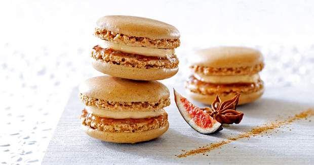 Macarons foie gras et confit de figues violettesMacarons foie gras et confit de figues violettes
