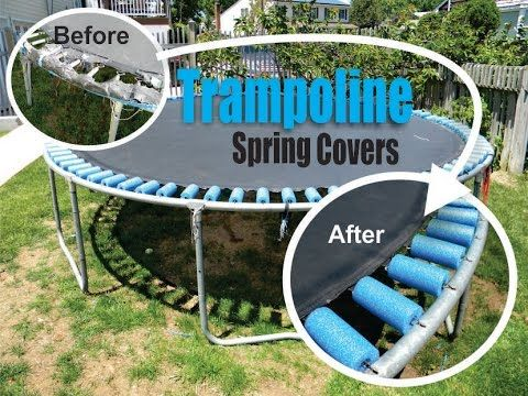 How to repair any Trampoline spring cover with foam pool noodles.