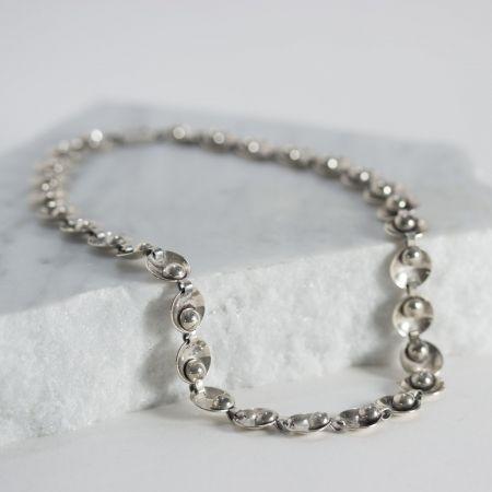 Silver collier by Maurius Sørensen