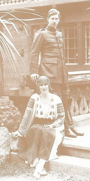 Prince Carol II of Romania with his wife Princess Helen of Greece and Denmark in the early 1920s
