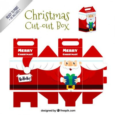 CASITA DE PAPEL: Christmas cut out box by freepik
