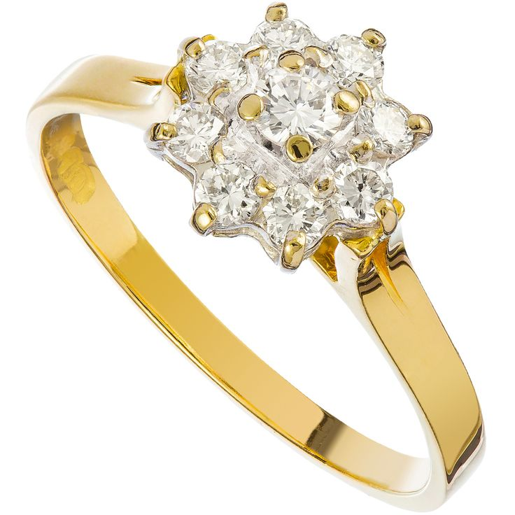18ct Gold 0.70 Carat Diamond Cluster Ring - Purejewels.com.au