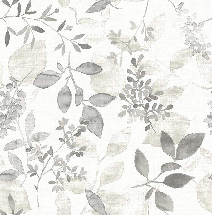 A Street Prints 2716 23867 Gossamer Grey Botanical Wallpaper Amazon Com Botanical Wallpaper Farmhouse Wallpaper Watercolor Wallpaper
