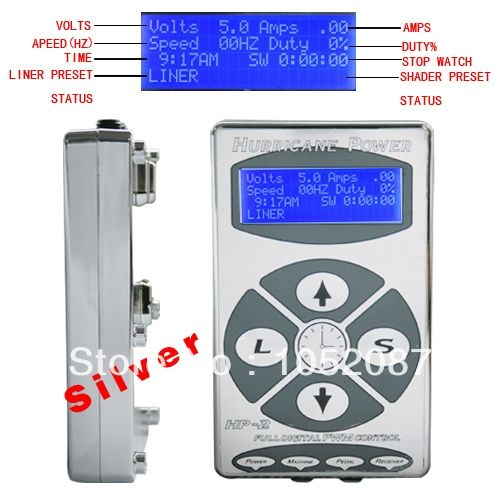 39.55$  Watch now - http://alismr.shopchina.info/go.php?t=1553348718 - Hot Sale Pro 1PC Silver HP2 Hurricane Digital Dual LCD Display For Tattoo Power Supply Free Shipping 39.55$ #aliexpresschina
