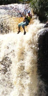Tsitsikamma Falls Ziplining in South Africa.  http://www.adventureactivities.co.za/zipline.htm