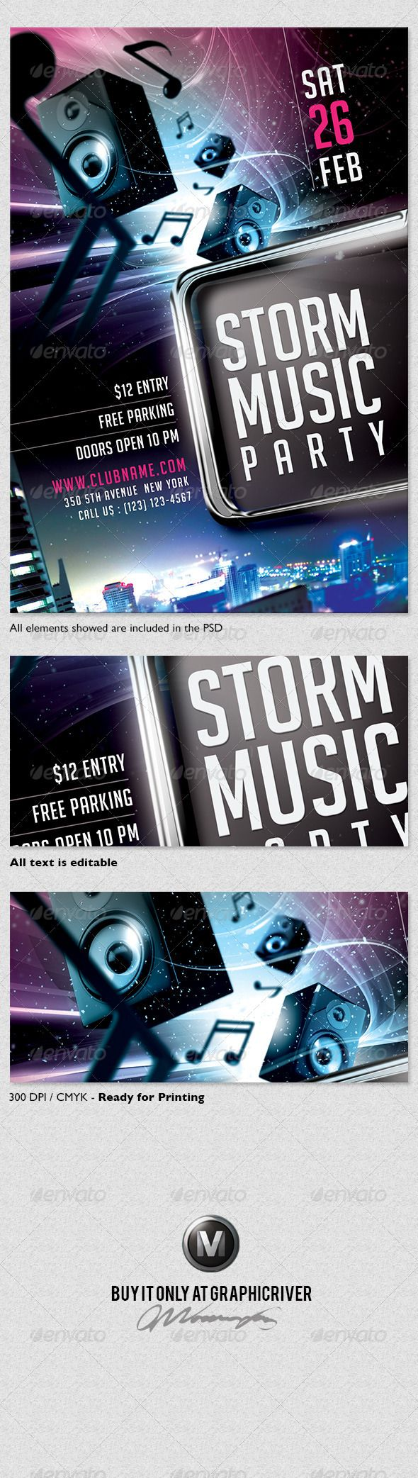 Storm Music Flyer Template