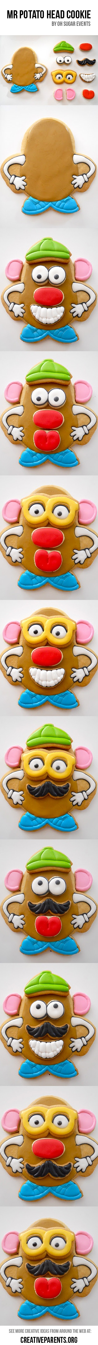 Mr. Potato Head Cookie - Creative ideas from around the web. http://creativeparents.org