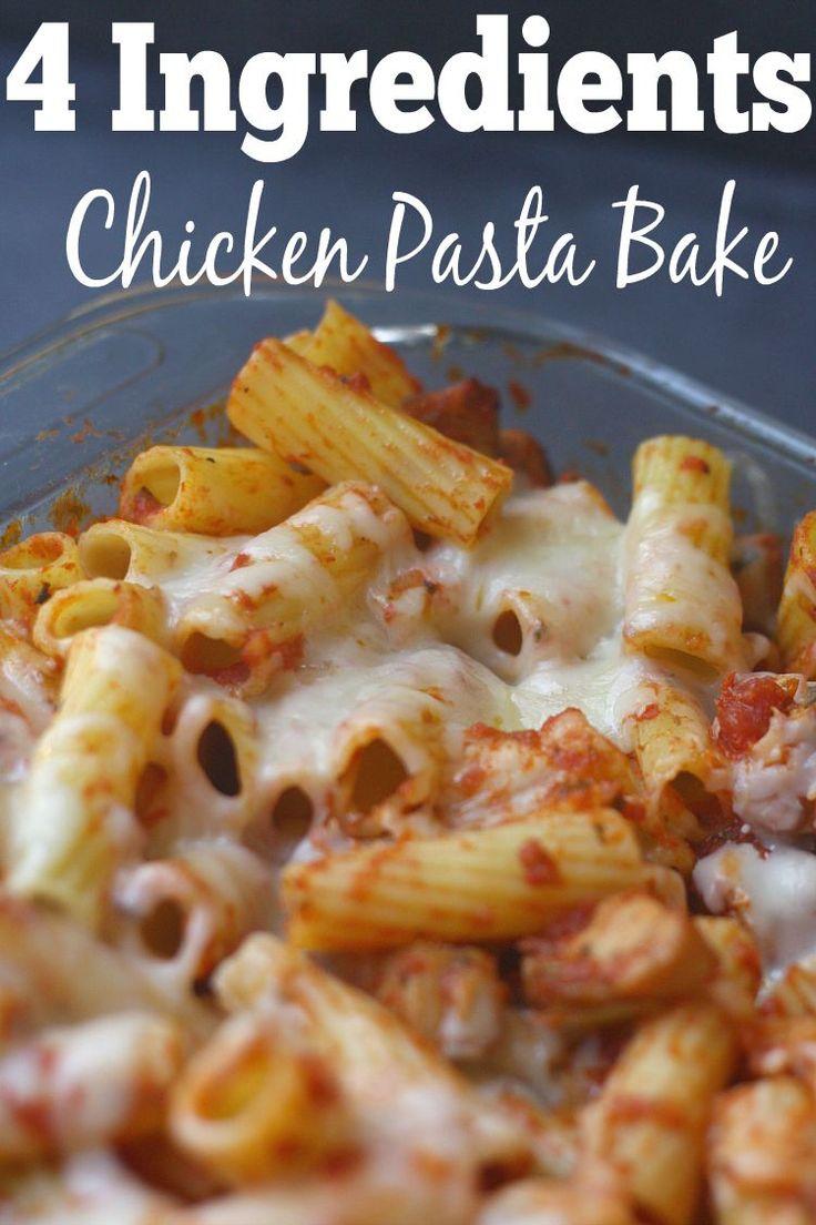 4 ingredient chicken pasta bake... recipe...