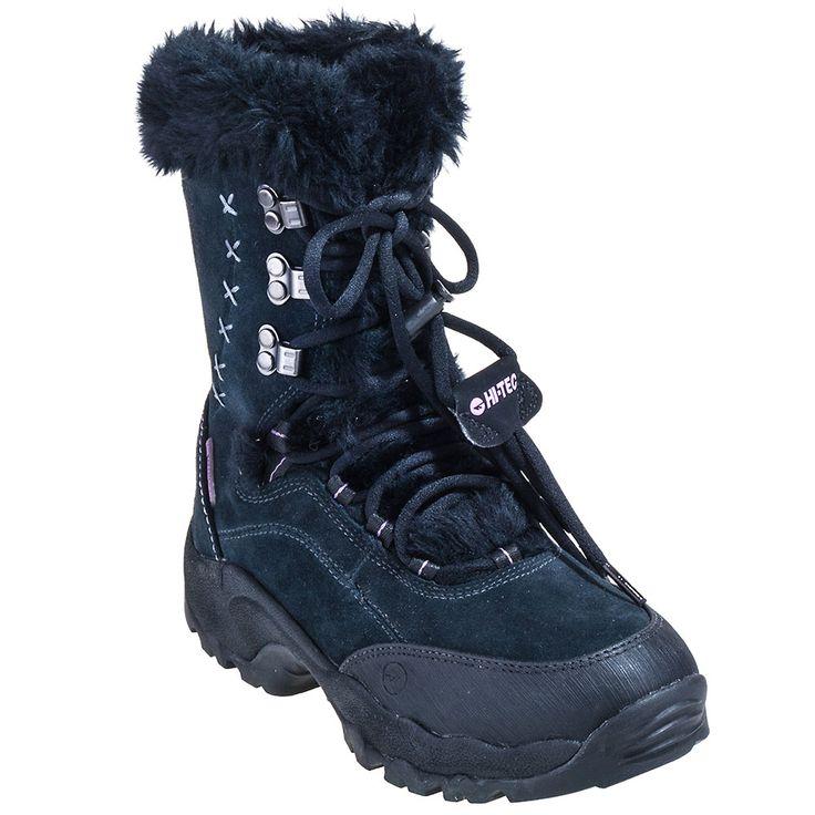 Hi-Tec Boots 40425 Womens Black St. Moritz Insulated Winter Boots