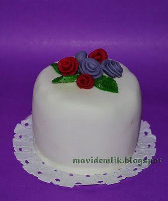 mavi demlik mutfağı- izmir butik pasta kurabiye cupcake tasarım- şeker hamurlu-kur: Tek Kişilik Pastalar