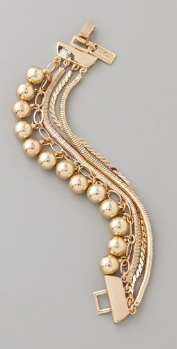 tuleste market                                                                                                  Snake Chain Pom Pom Bracelet