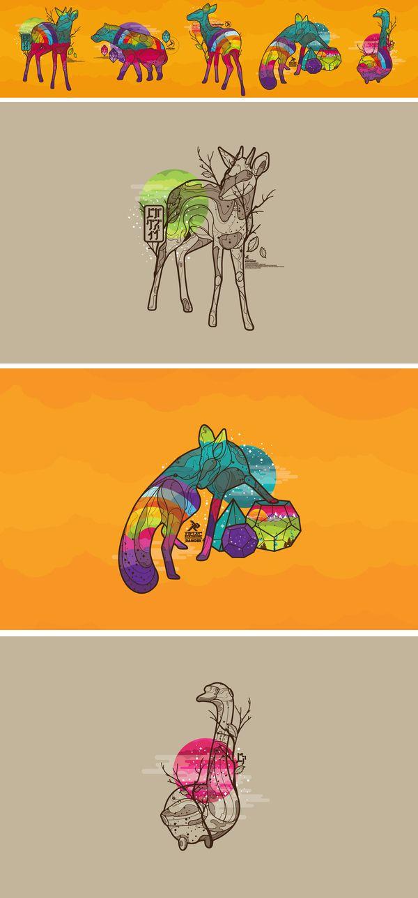 40 designs d'animaux minimalistes | Blog du Webdesign