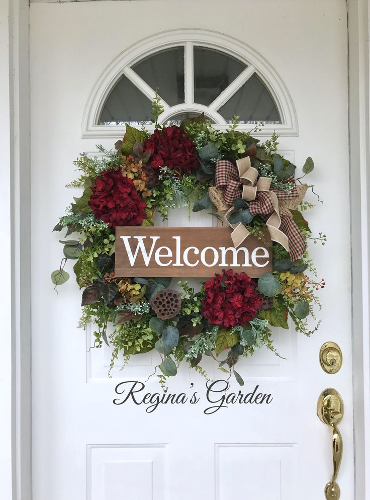 XL Hydrangea Wreath Spring Wreath Farmhouse Wreath All Season Wreath Welcome