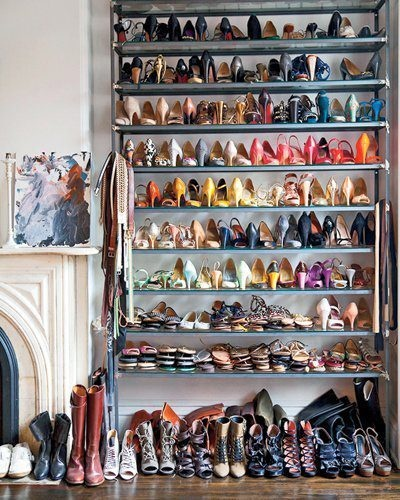 When you have too many shoes to fit on your giant shoe rack... you know you have a problem. #shoeaddict.