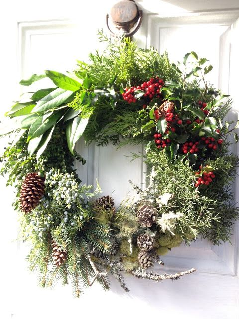 Karin Lidbeck: 15 Day Countdown - Make a Wreath Sampler! Love the texture and variety here.