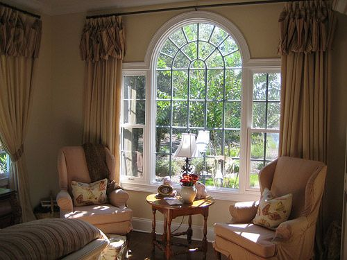 image of palladian window treatments -