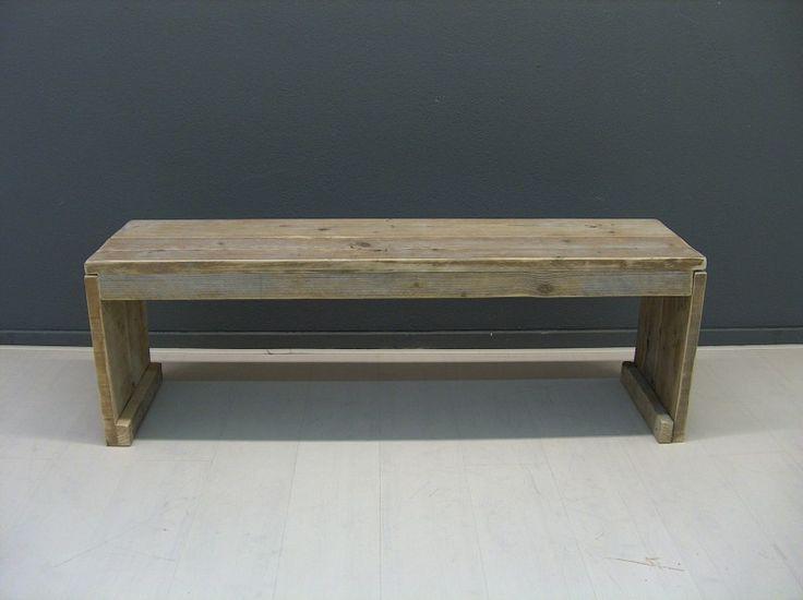 Bankje van steigerhout met gesloten zijkanten Model Karwei (22131507) | Bankjes & stoelen | JORG`S Houten Meubelen