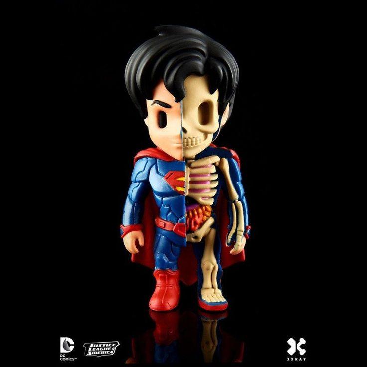 DC Comics XXRAY Figure - Superman 10 cm    DC Comics, Mighty Jaxx: DC Comics XXRAY Figures, XXRAY Figures www.detoyboys.nl