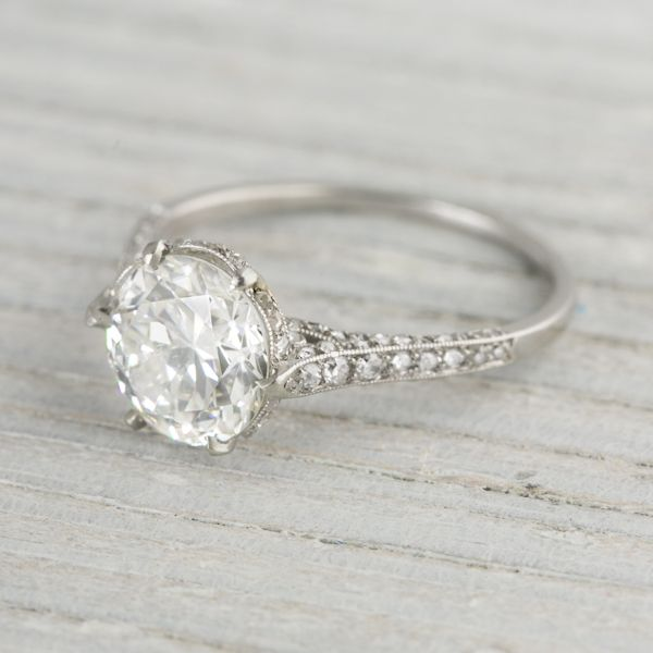 2.04 Carat J.E. Caldwell & Co. Vintage Diamond Engagement Ring | Vintage & Antique Engagement Rings | Erstwhile Jewelry Co NY