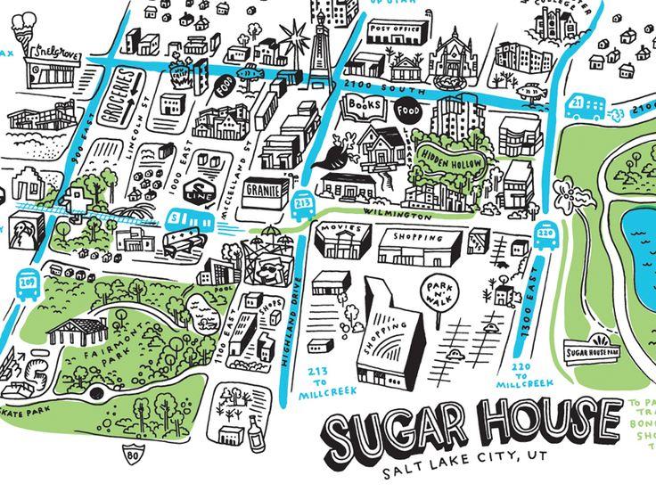 Sugar House map by Valerie Jar