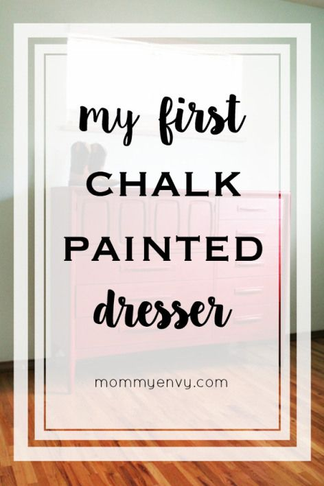 Thinking about using chalk paint? Intimidated? So was I but my first chalk painted dresser turned out better than I ever thought it would. | www.mommyenvy.com