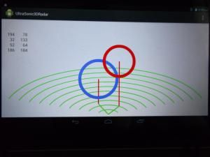 Ultrasonic 3d scanning moving objects on android