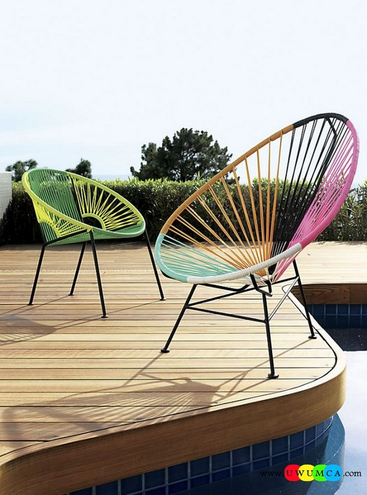 Furniture:Rustic Outdoor Summer Lounge Furniture Collection Easy Summer Garden Lounge Escapes Sofas Chairs Bar Table Set Colorful PVC Cord Chairs Luxurious Outdoor Decor Fruniture Collection To Enliven Your Relaxed Summer Lounge!