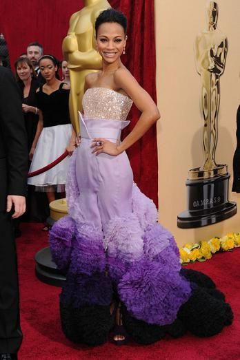 Zoe Saldana in Givenchy Haute Couture
