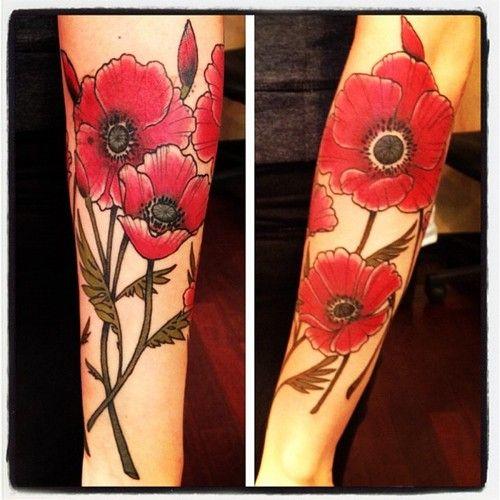 Poppies  Erik Jacobsen, Idle Hand Tattoo, San Francisco