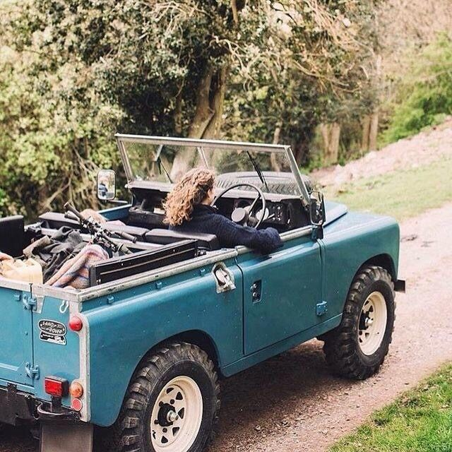 Classic Landrover Jeep With The Top Down Defender Land5cape
