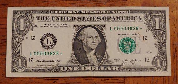 2013 One Dollar Bill Star Note