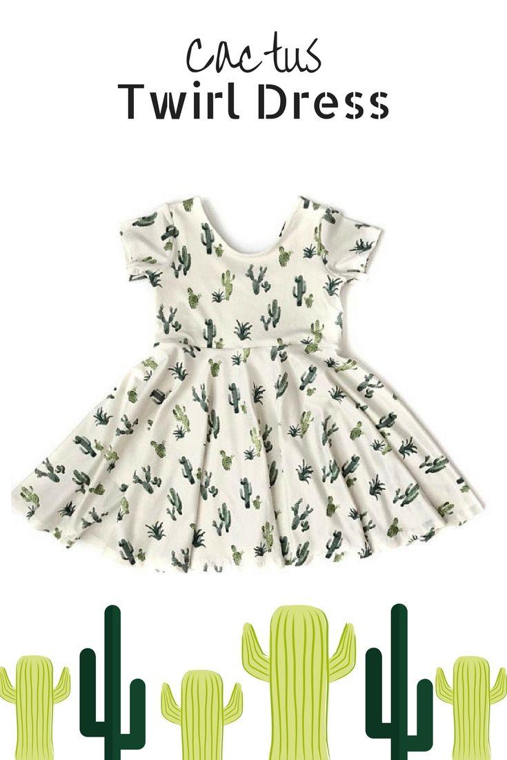 c222344b60a Summer Twirl Dress   Cactus Dress   Succulent Twirl Dress   Toddler Twirl  Dress   Girl Twirl Dress   Sundress   Birthday Dress   baby   etsy    fashion   ...