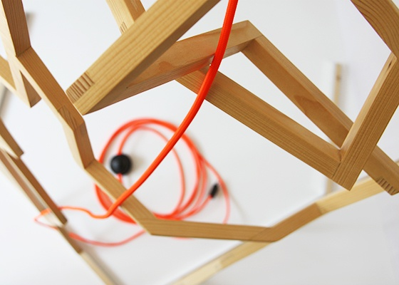 Handcrafted lamp made by Kuiken Design