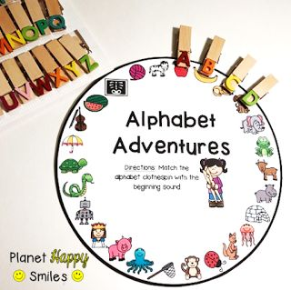 Target Dollar Spot Alphabet Clips, Alphabet Wheels - easily adaptable to more complex skills.