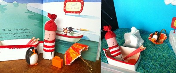 Lost and Found – Small World Play « Imagination Soup   Fun Learning and Play Activities for Kids - Make props from a story book and put in a sensory tub/activity box!