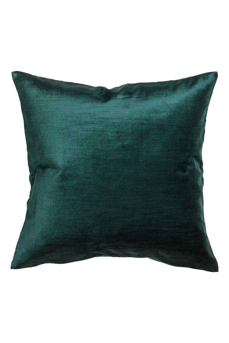 Aksamitna poszewka na poduszkę - Ciemnozielony - HOME | H&M PL 1