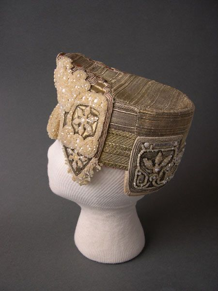 """Kokoshnik"" - festive headgear of a young married woman. Second half of the 19th century. Russians. Olonets Province."