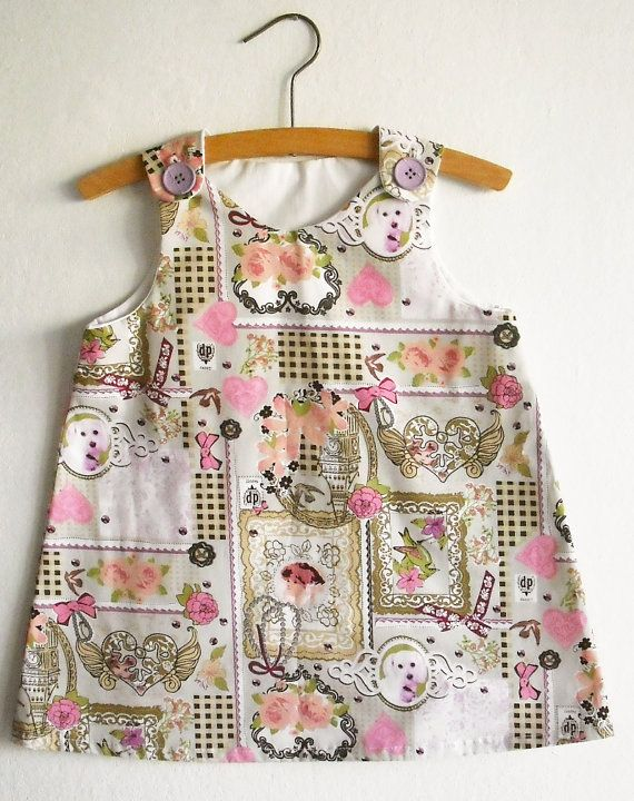 A Line Dress Pattern with Tutorial/Toddler dress by KokoPattern