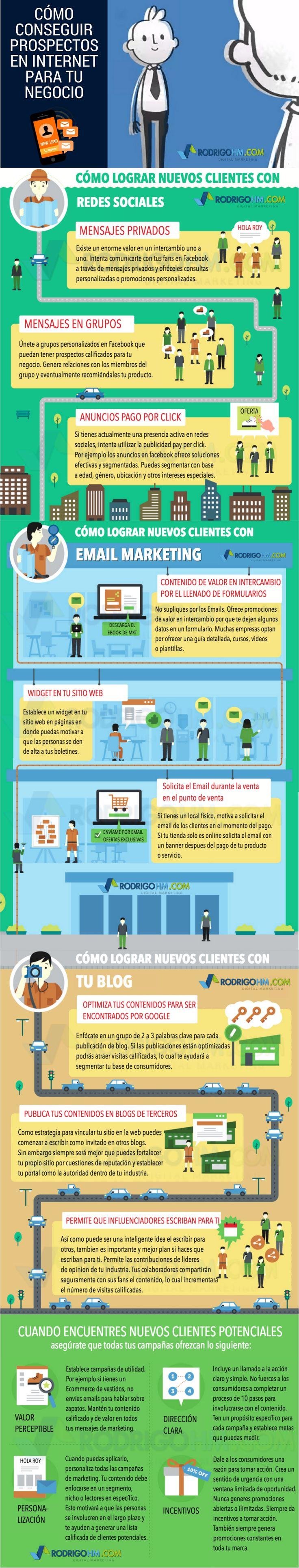 Cómo conseguir Leads en Internet para tu empresa #infografia