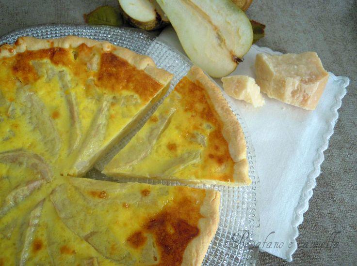 Quiche con formaggio e pere  http://blog.giallozafferano.it/rafanoecannella/quiche-formaggio-pere/