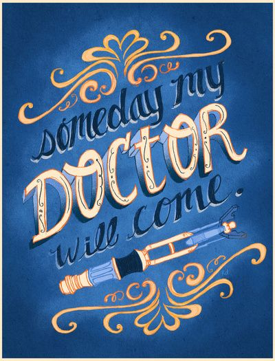 """Someday My Doctor Will Come~"" Art Print (by Krissy Diggs)"