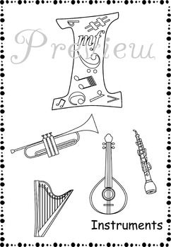 "This  product ""Music Alphabet Coloring Pages"" is a great way to introduce Music Intstruments to your young children. These worksheets are also perfect for early finishers, as a quick assessment, center work, group lessons, the sub tub and much more! #elmused  #music #musicworksheets #musiceducation #Musiccoloring #MusicInstruments #AMStudio"