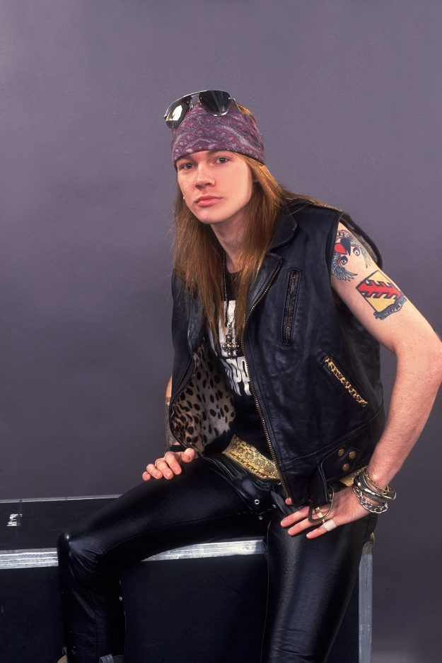 Axl Rose of Guns And Roses au Pavillon de l'UIC à Chicago, Illinois, le 21 août 1987.  (Photo de Paul Natkin / Getty Images)