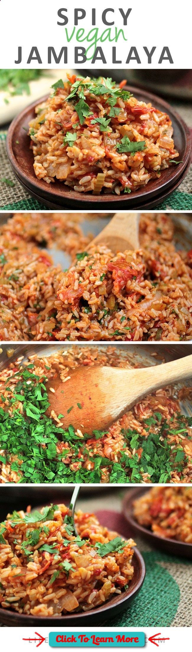 #FastestWayToLoseWeight by EATING, Click to learn more, Spicy Vegan Jambalaya makes for an amazingly delicious & #healthy dinner: , #HealthyRecipes, #FitnessRecipes, #BurnFatRecipes, #WeightLossRecipes, #WeightLossDiets