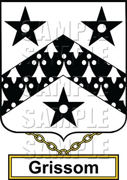 Grissom Family Crest apparel, Grissom Coat of Arms gifts