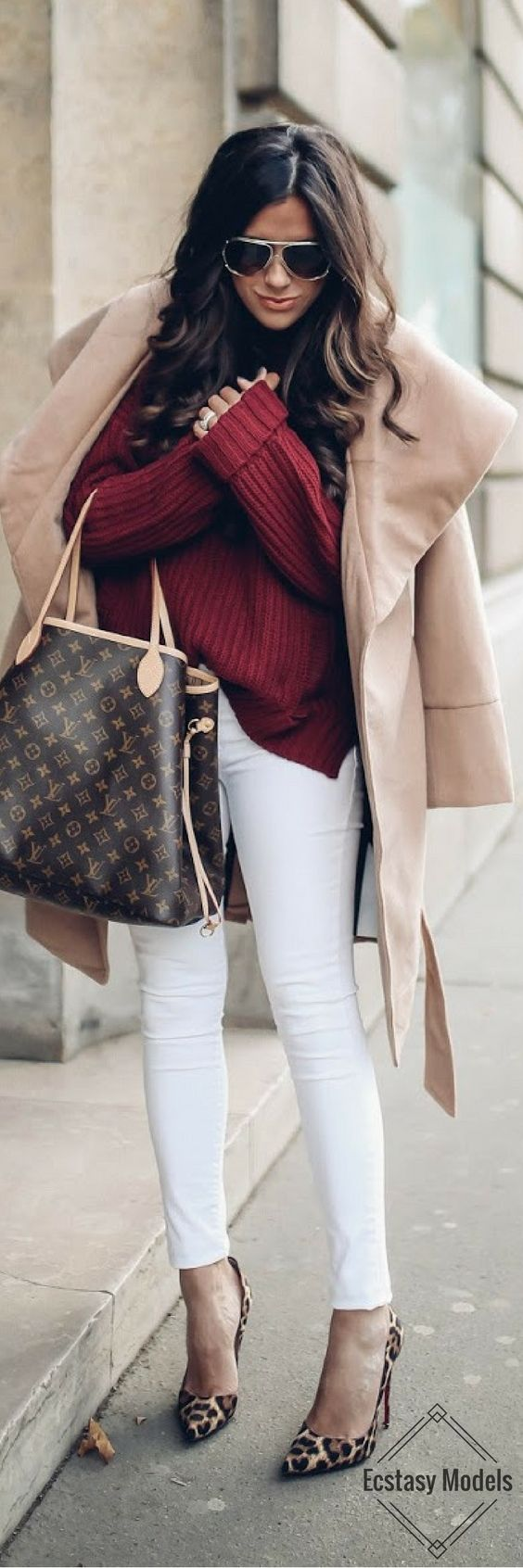 BORDEAUX & CAMEL FOR FALL // Fashion Look by Emily Ann Gemma