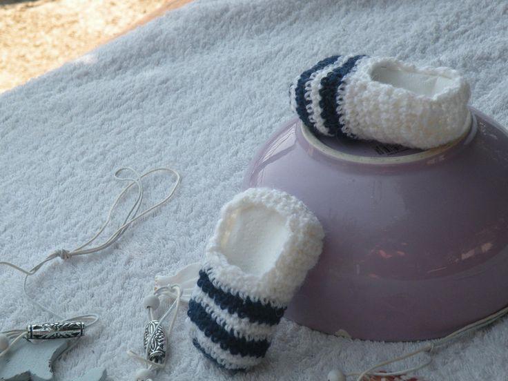 Scarpe - scarpine bebè stile marinaro - un prodotto unico di bandullera su DaWanda