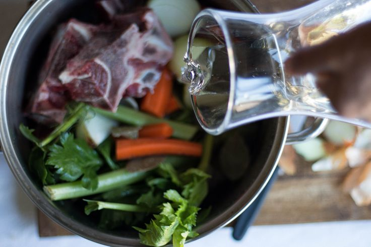 How to make a delicious beef or chicken bone broth at home.