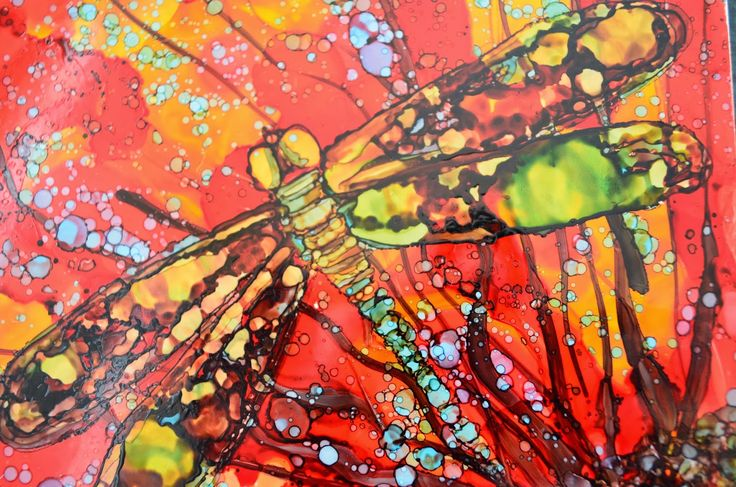 Kellie Chasse Fine Art: Alcohol Ink Paintings On Ceramic Tiles